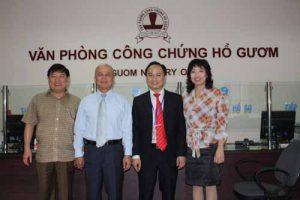 Lãnh đạo Bộ Tư Pháp và Sở Tư Pháp TP. Hà Nội thăm VPCC Hồ Gươm